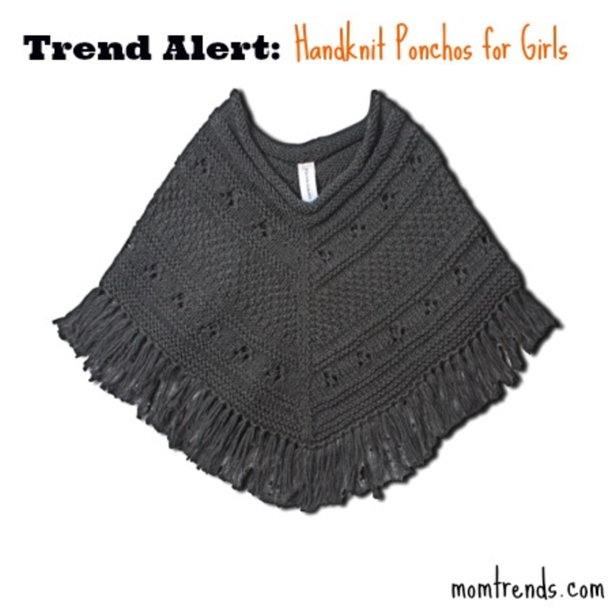 hand knit poncho, clothing trends for kids, playtime NYC