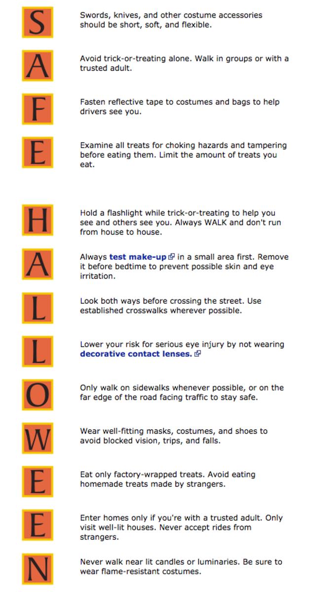 halloween safety, safe halloween, cdc, halloween safety