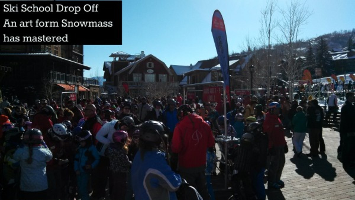 snowmass ski school drop off