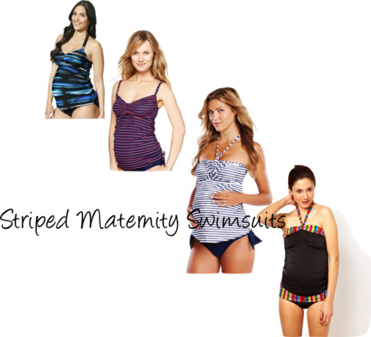 striped maternity swim