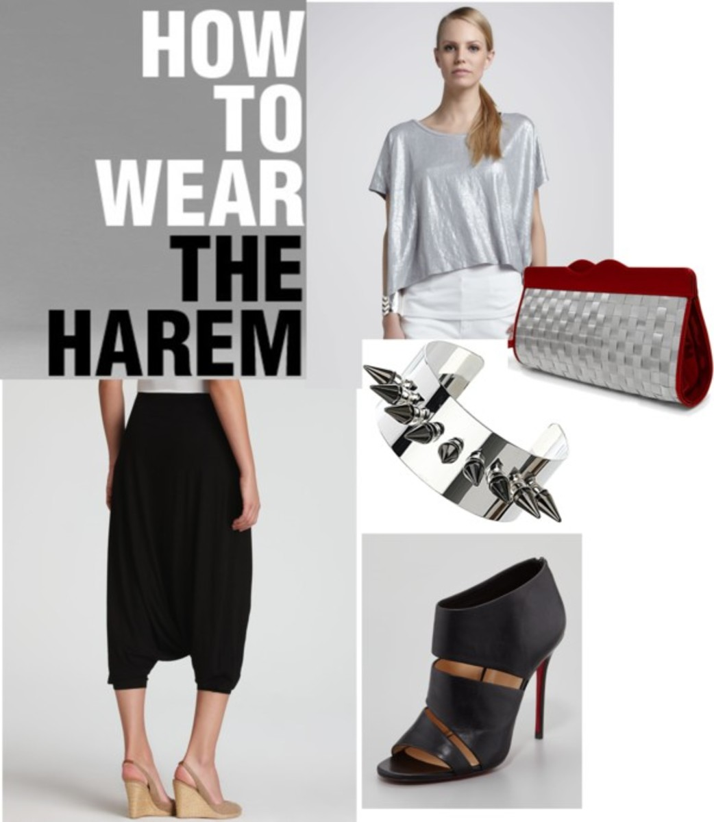 how to wear the harem pant