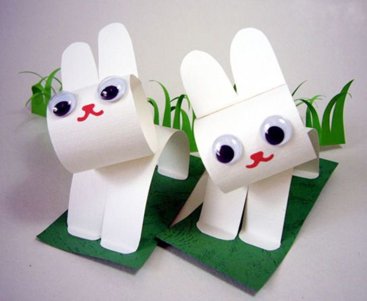 construction paper bunny craft