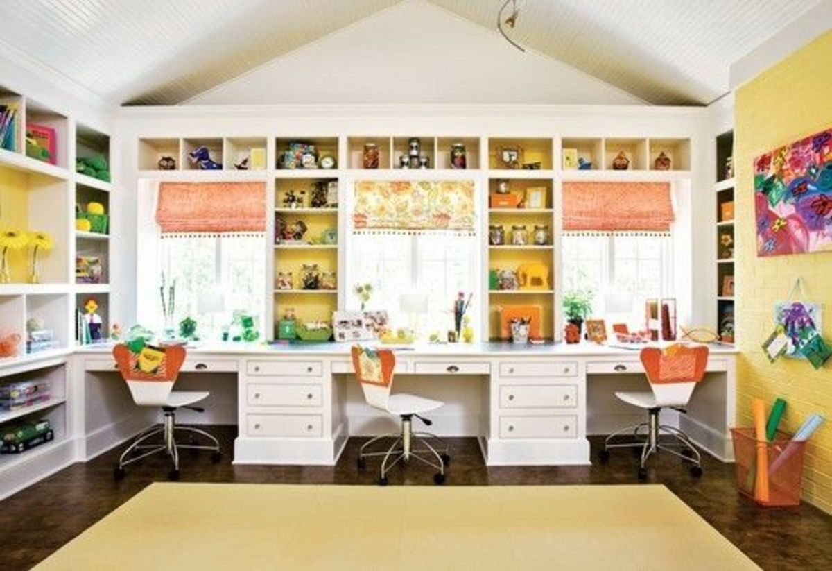 Bring back to school organization to your home momtrendsmomtrends - Craft area for small spaces property ...