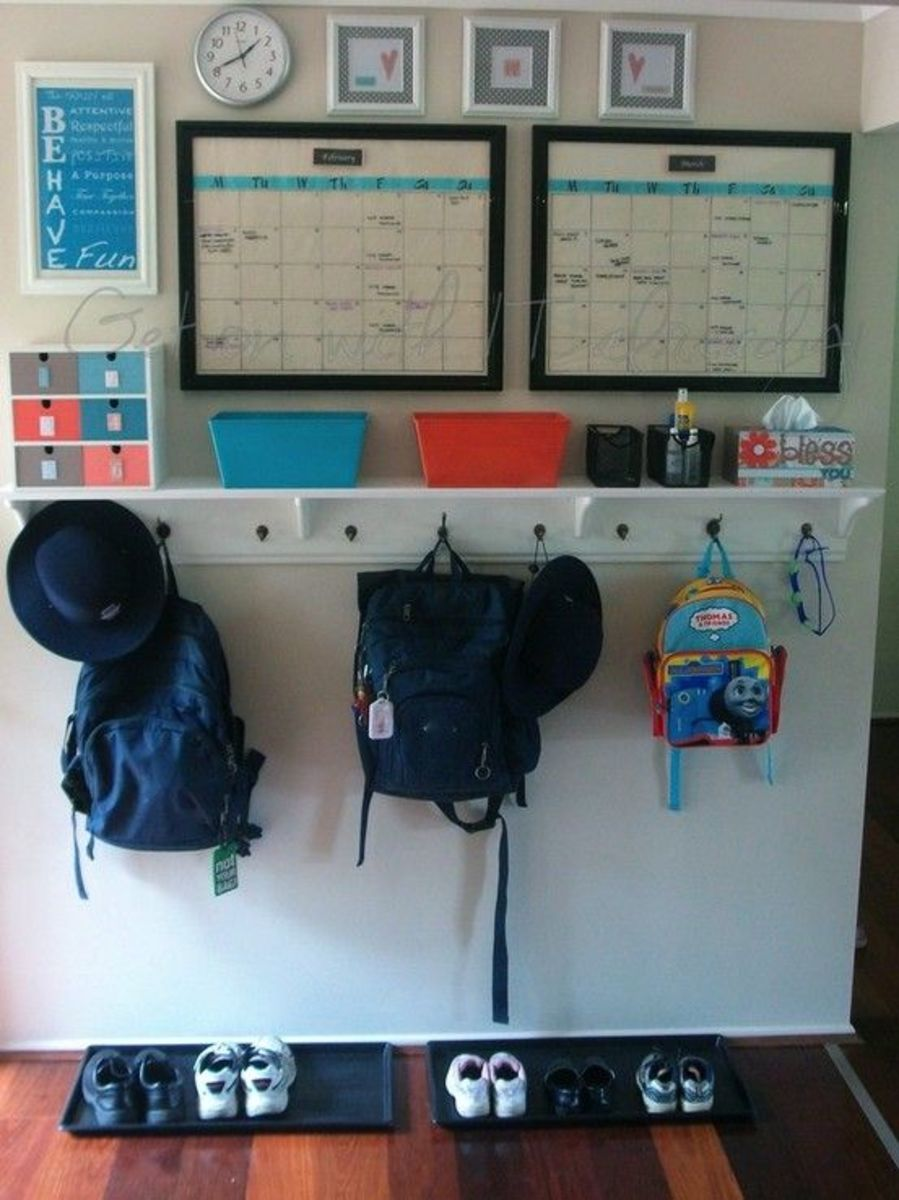 Bring back to school organization to your home Ideas for hanging backpacks