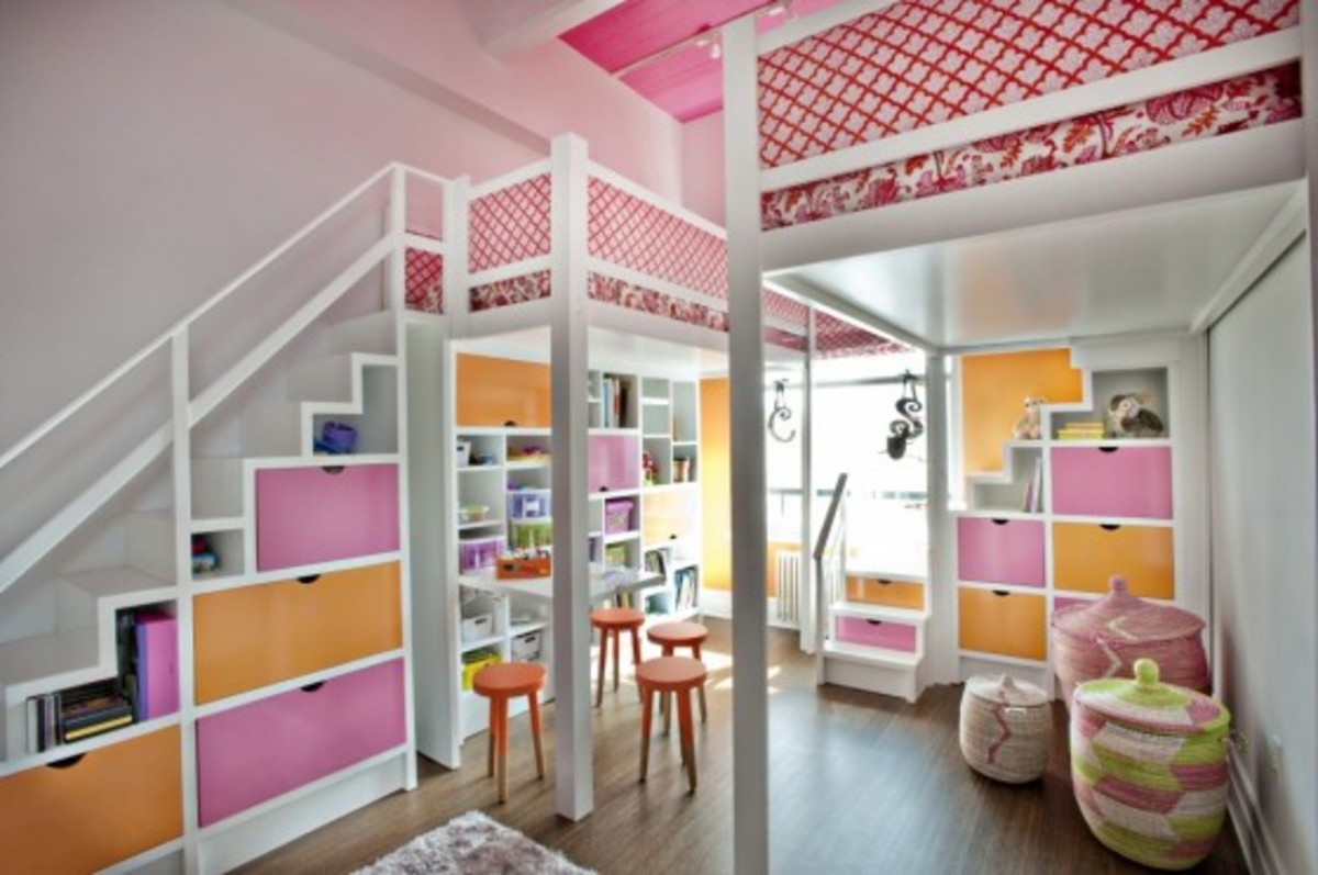 pink-and-orange-lofted-girls-room-e1368203524727