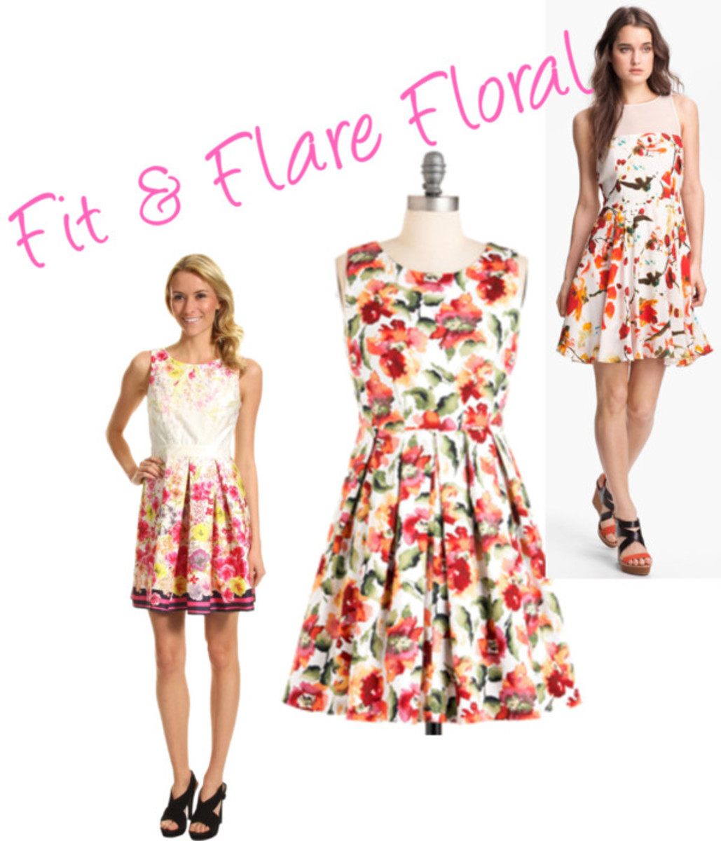 fit & flare floral