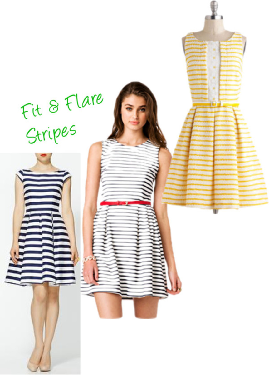 fit & flare stripes