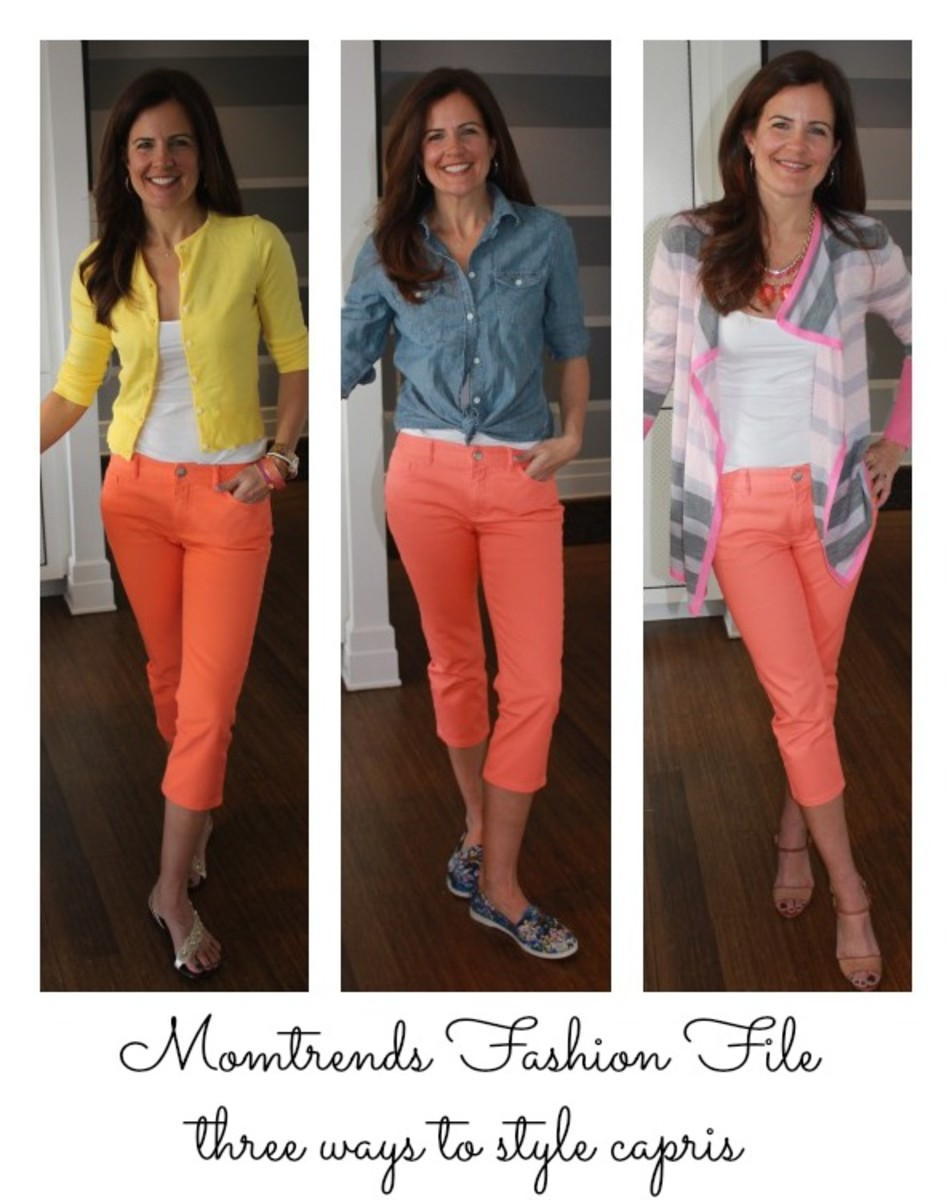 Monday Mingle: Chaps Colored Denim - MomTrendsMomTrends