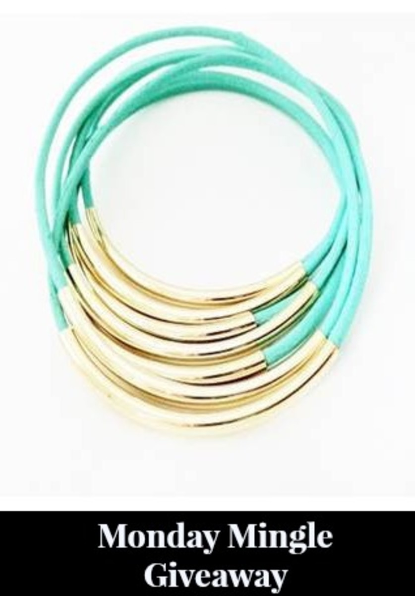 mint leather wrap bracelet