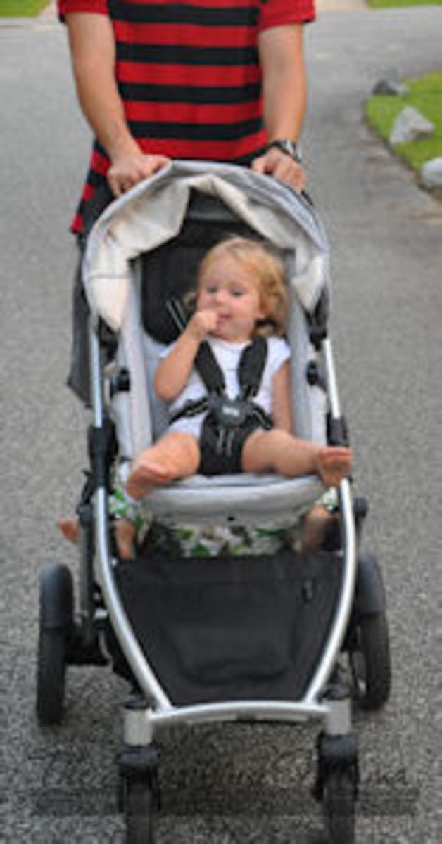 britax b-ready stroller on walk