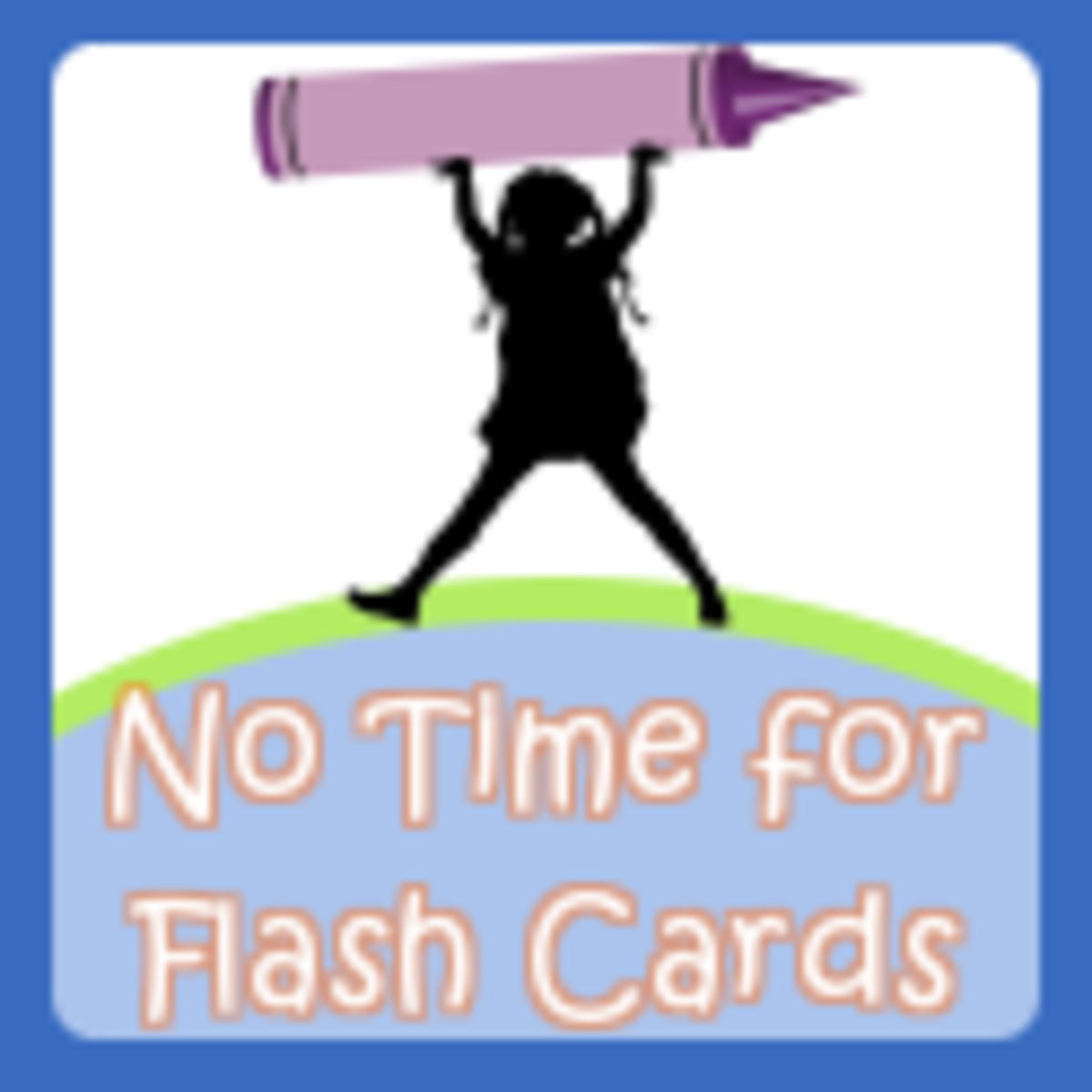 no time for flash cards button