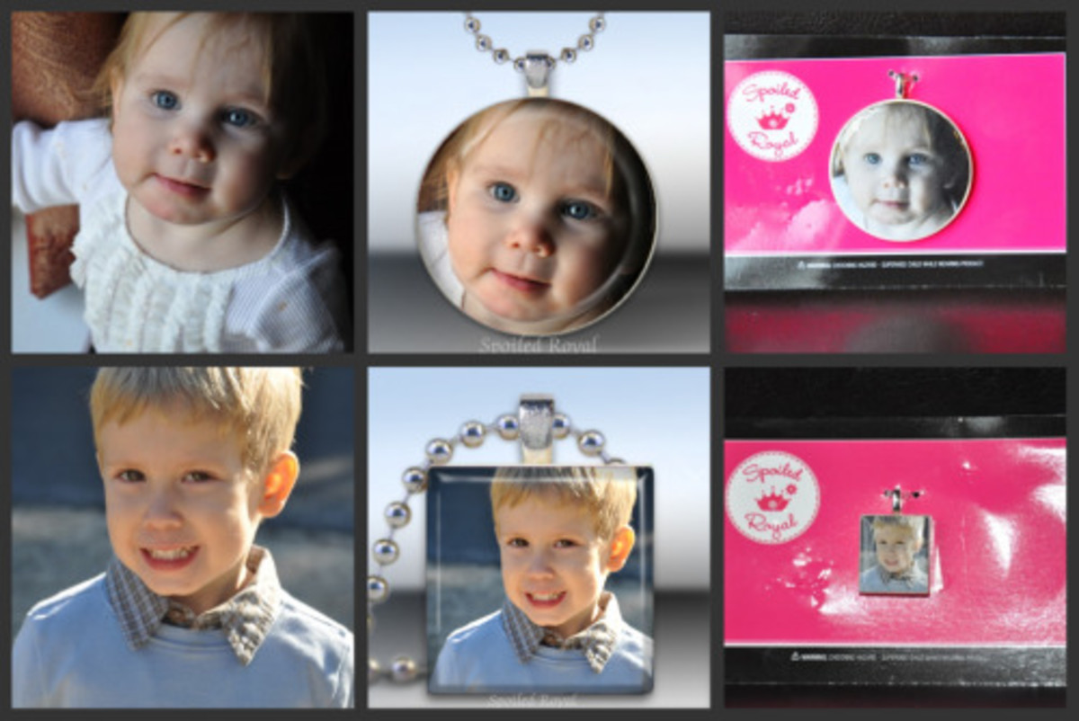 spoiled royal photo charm necklaces