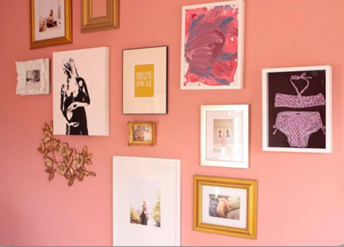 gallery wall in nursery
