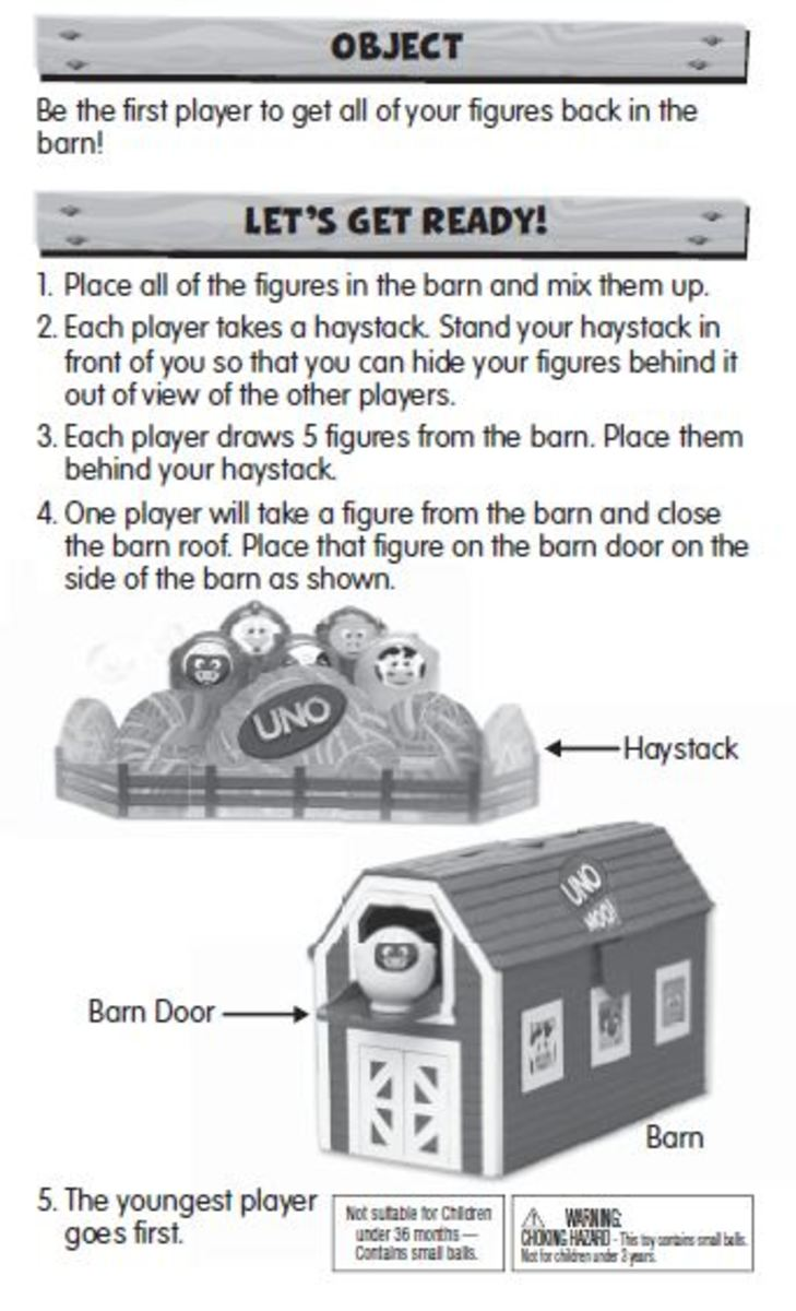 UNO Moo Game Directions