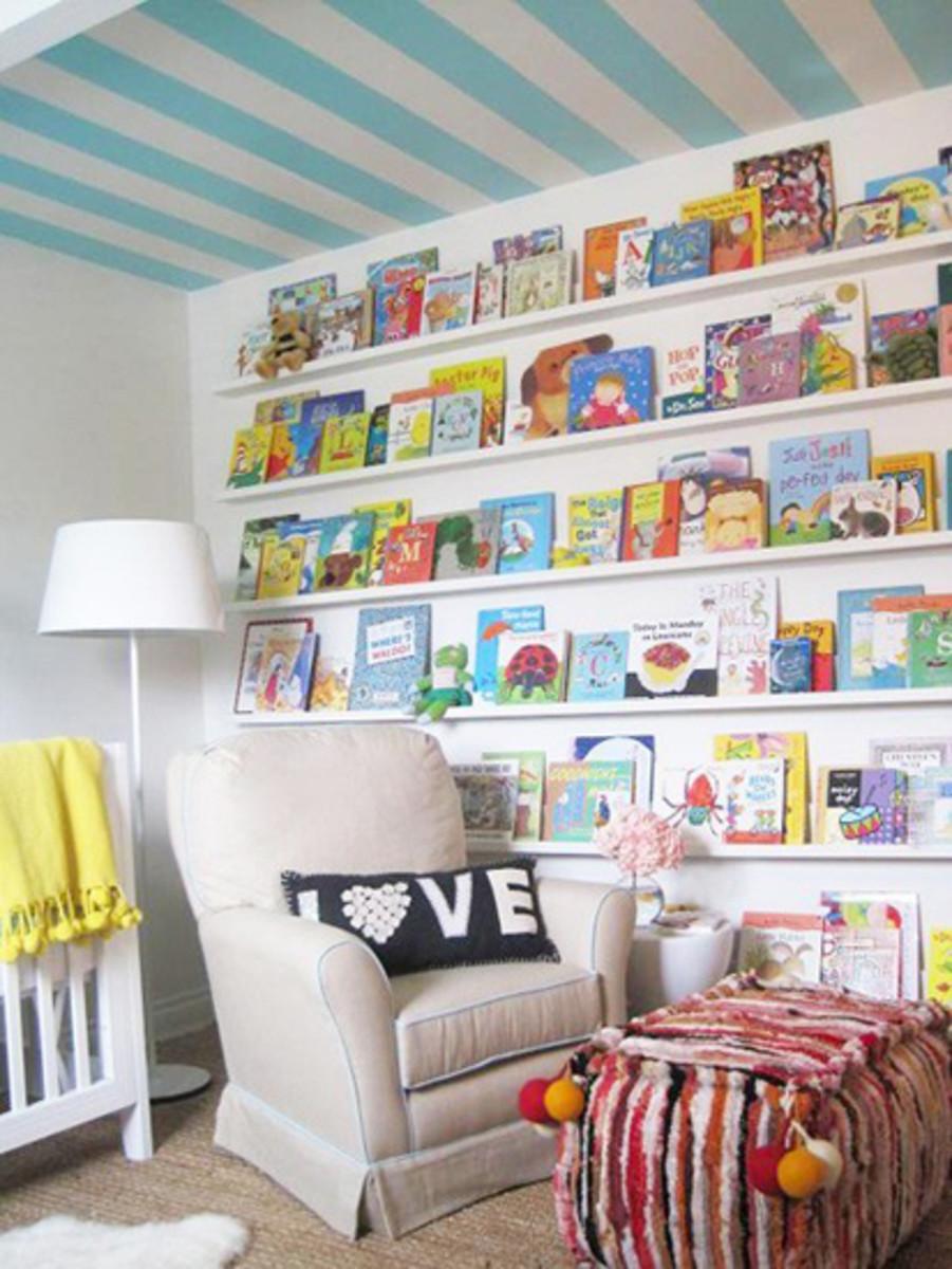 book covers as art in nursery