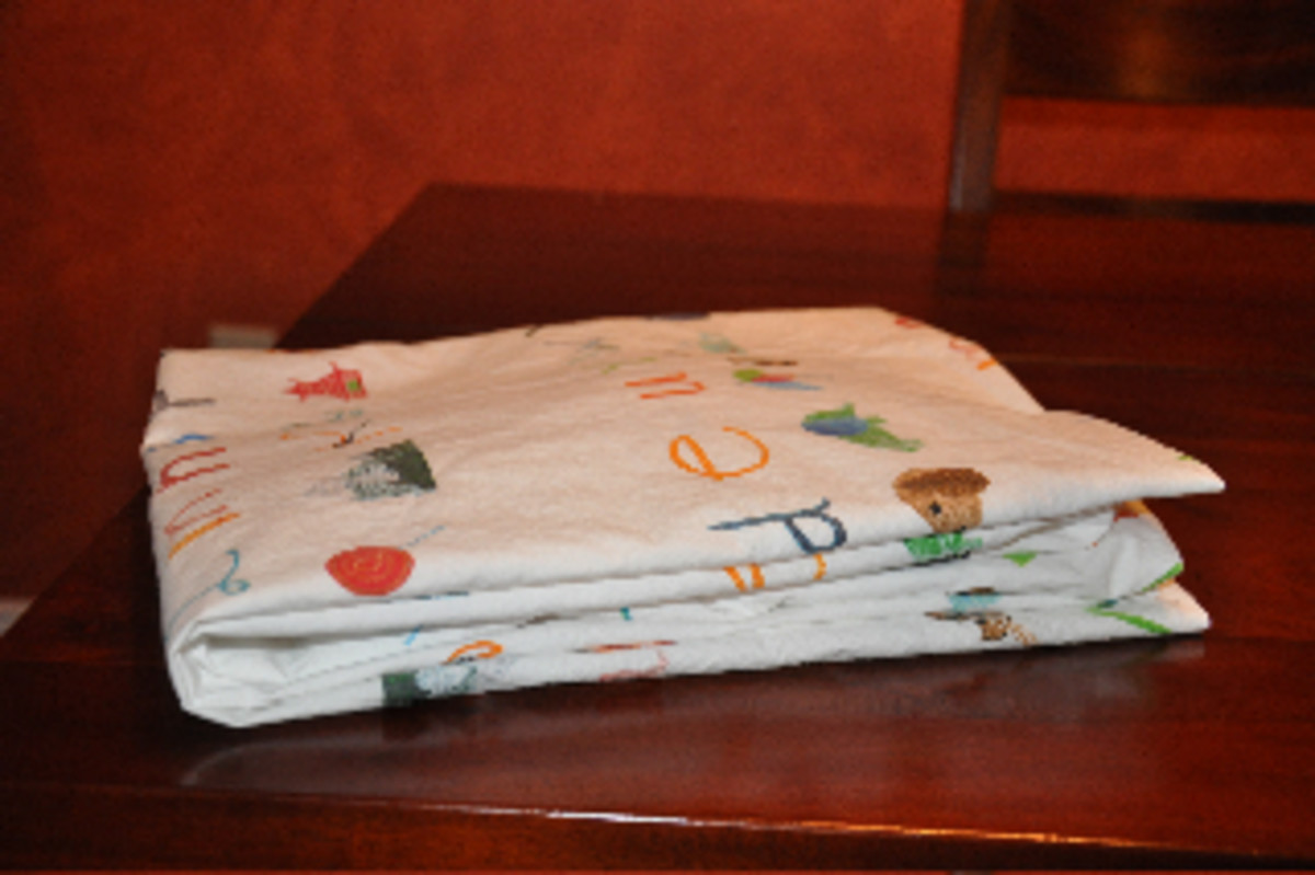 how to fold a fitted crib sheet 5