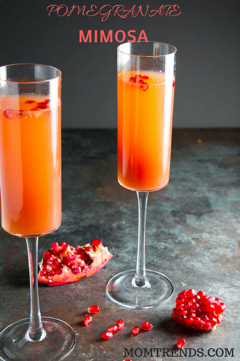 Pomegranate Mimosa #Brunch #cocktails #mimosa