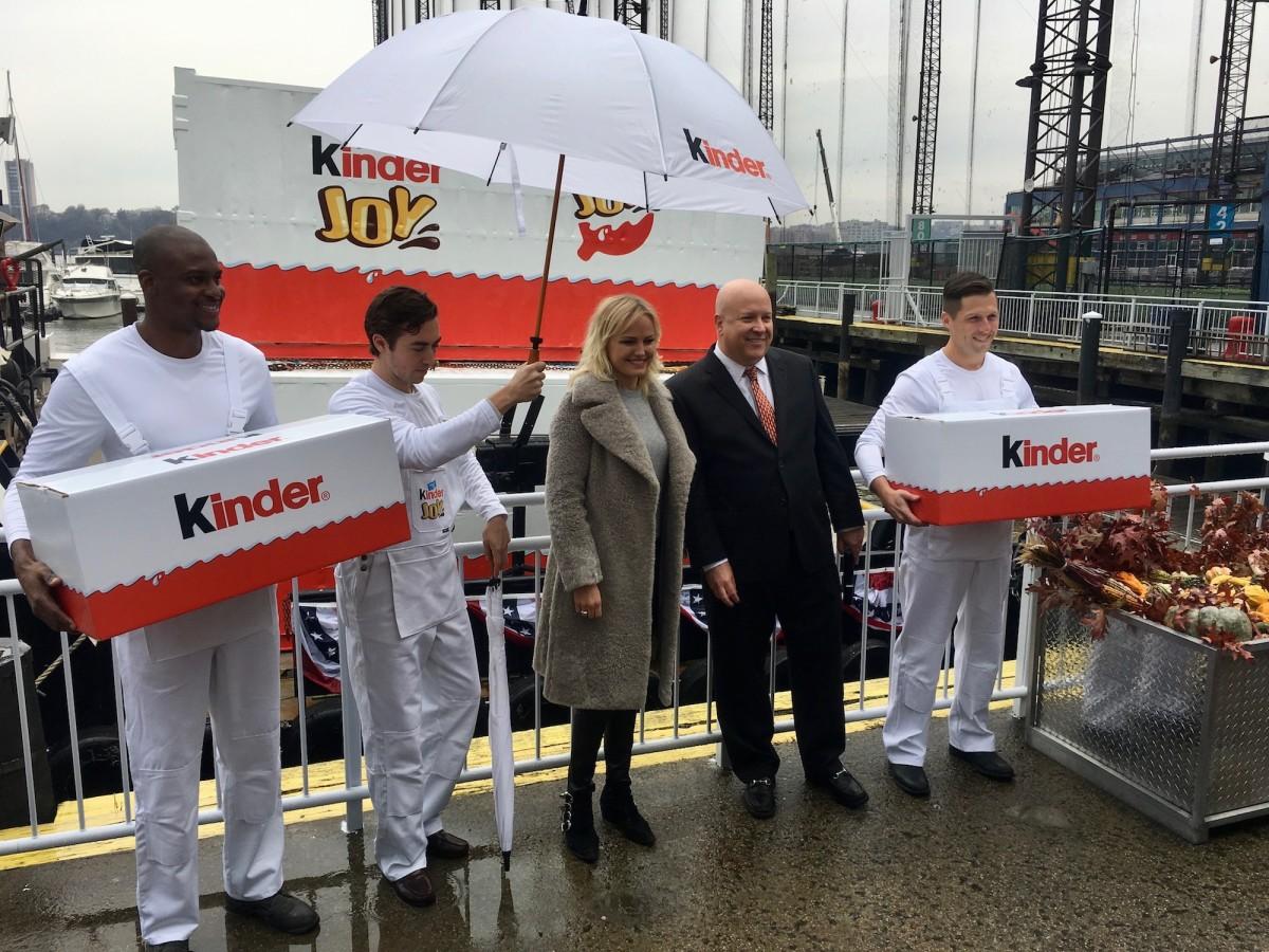 Malin Ackerman, Kinder Egg USA launch, Kinder Joy Arrives
