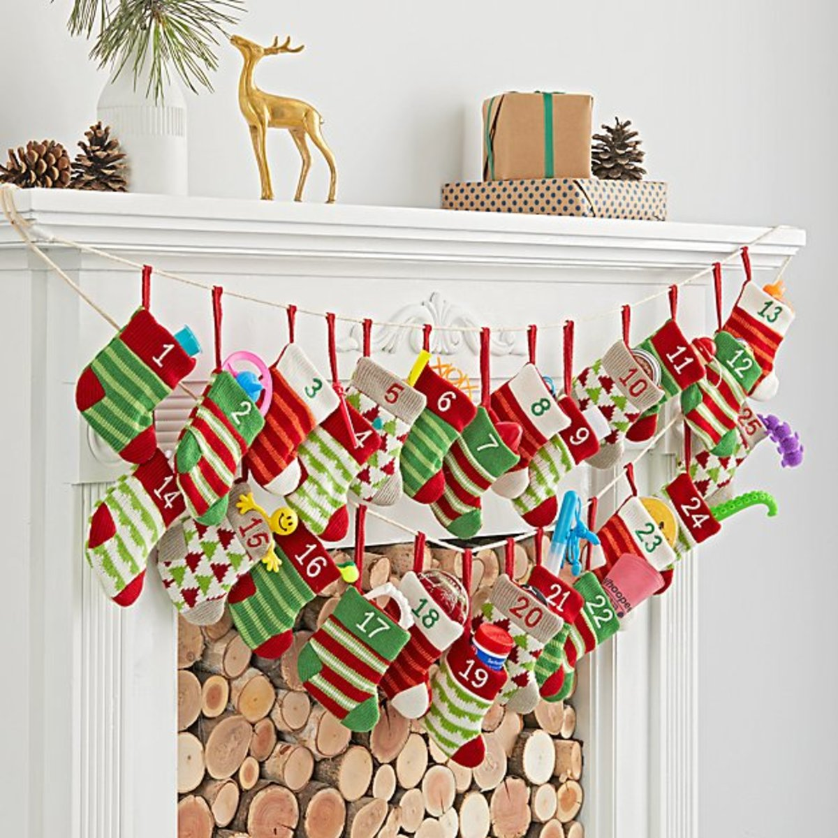 Stocking Garland Advent Calendar, $108