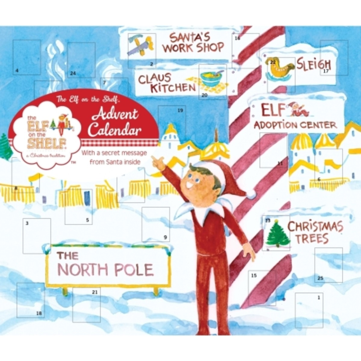 Elf on the Shelf Advent Calendar, $8