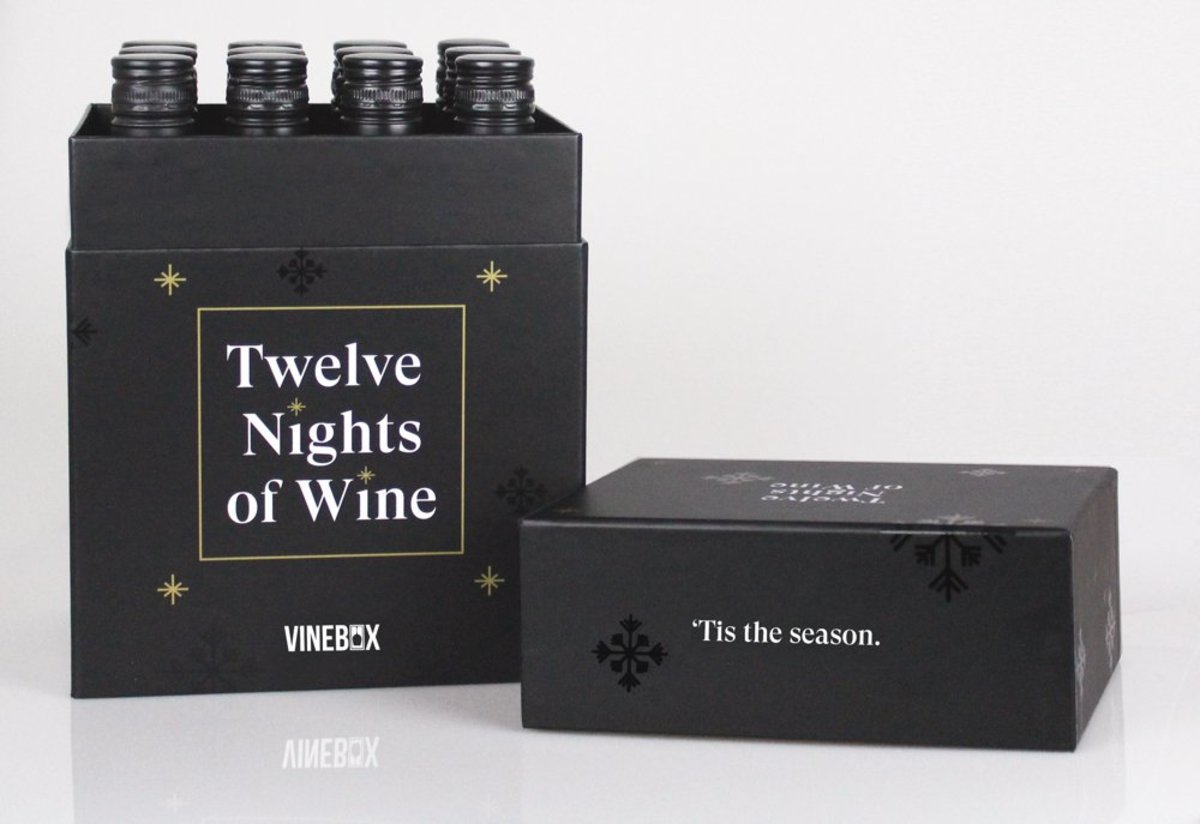Vinebox 12 Nights of Wine Advent Calendar, $129