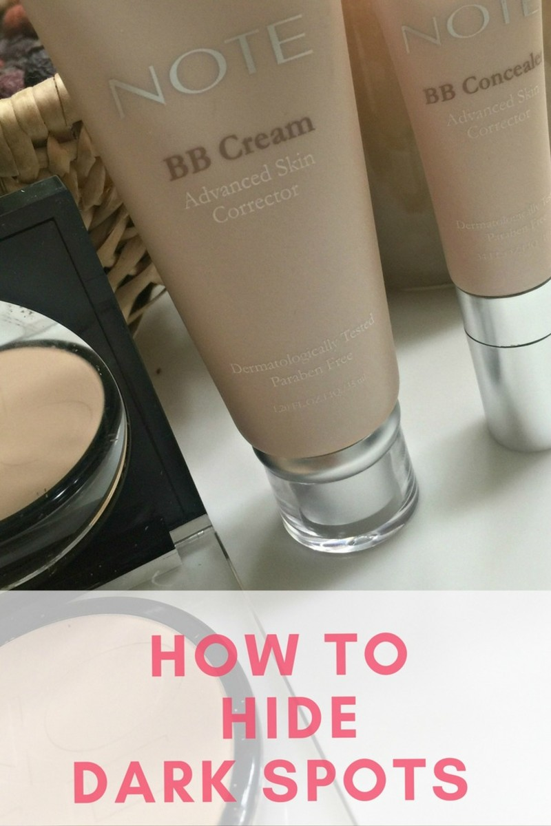 how to hide dark spots