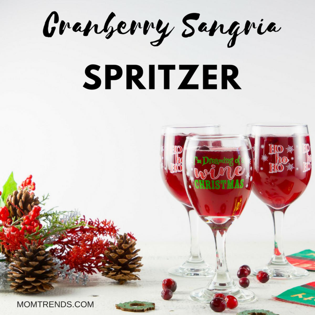 Cranberry Sangria Spritzer