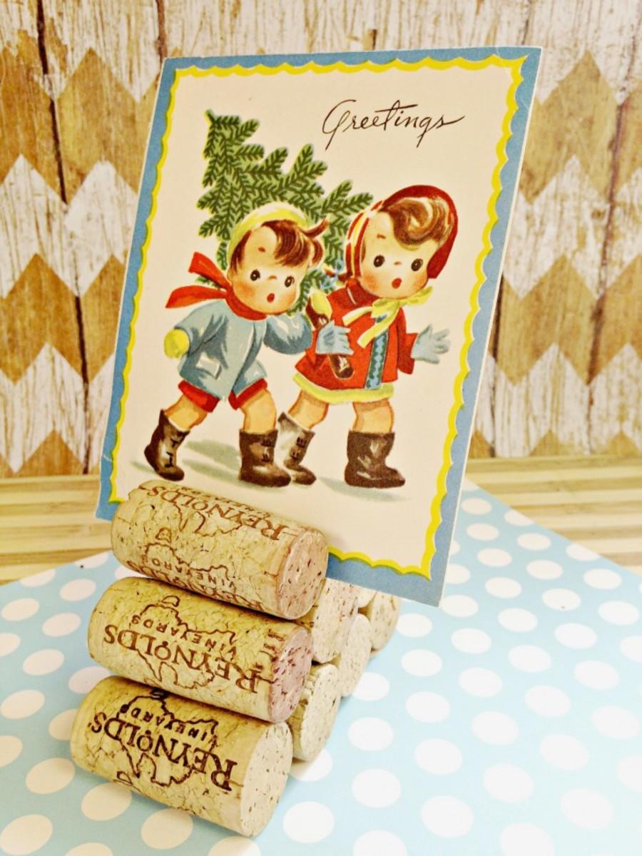 holiday card holder