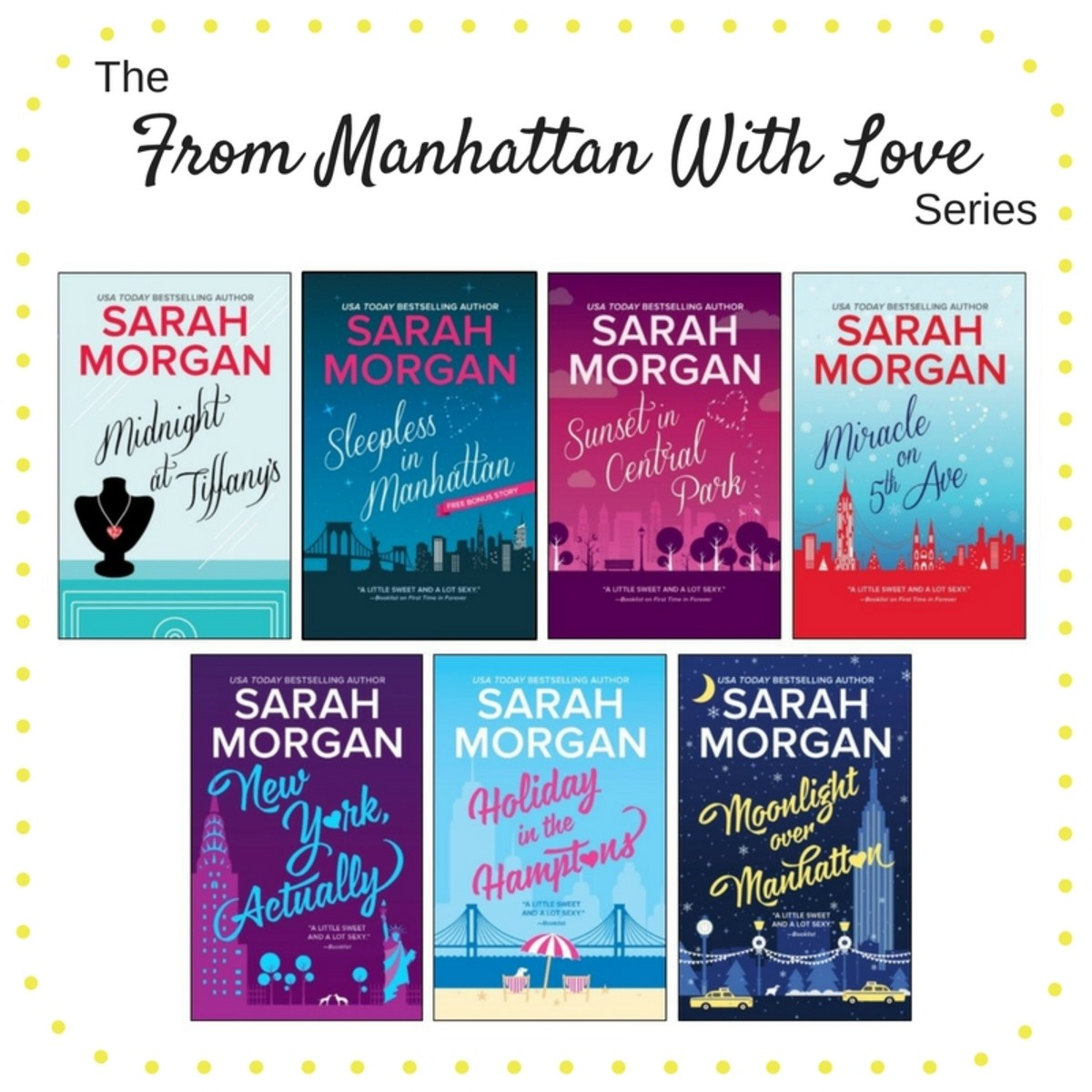 We recently chatted with USA Today Bestselling Author Sarah Morgan about her new release, Moonlight Over Manhattan, available now wherever books are sold.