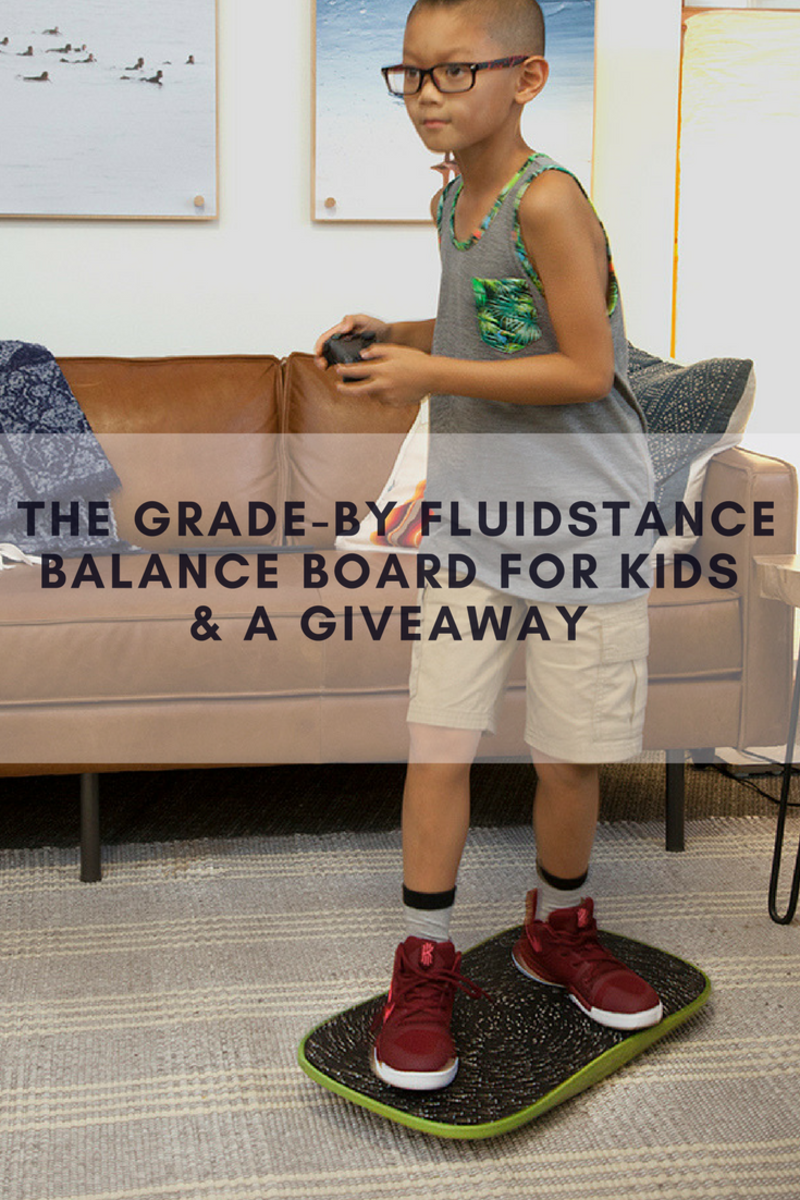fluidstance, balance board, the grade, active, kids activity, kids balance board, #bornmovers
