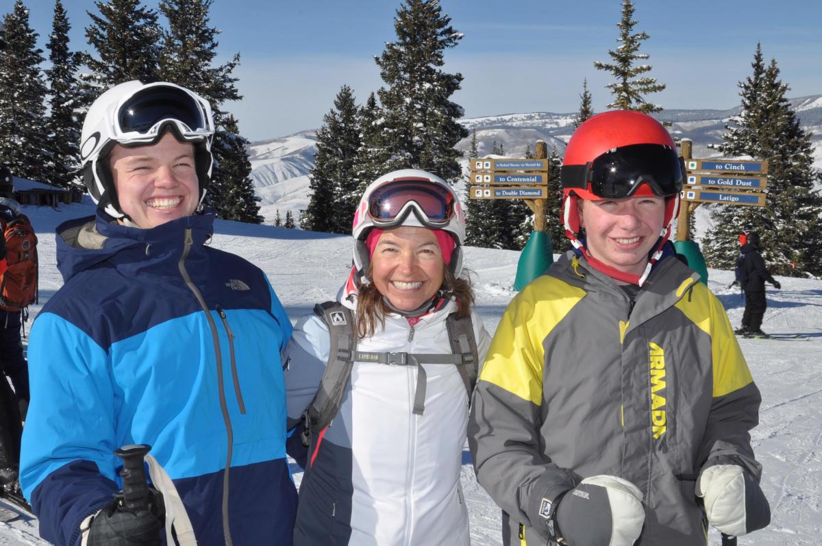 Brave ski mom Kristen Lummis