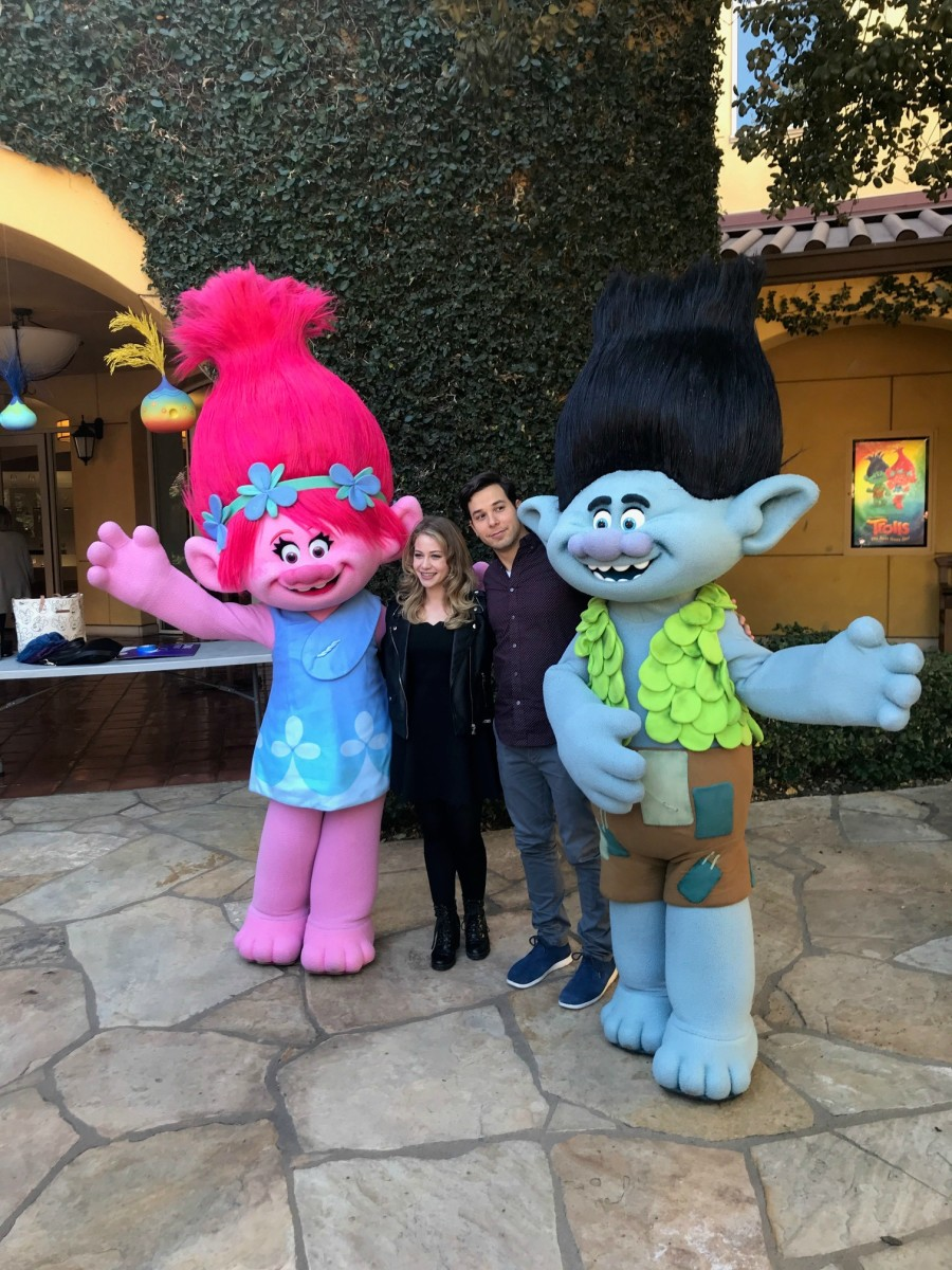 Poppy and Branch at the Trolls: The Beat Goes On Event