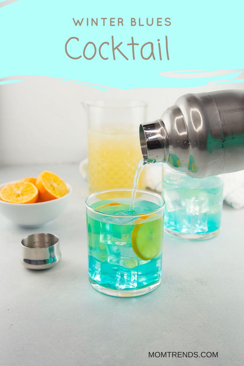 winter blue's cocktail with meyer lemons