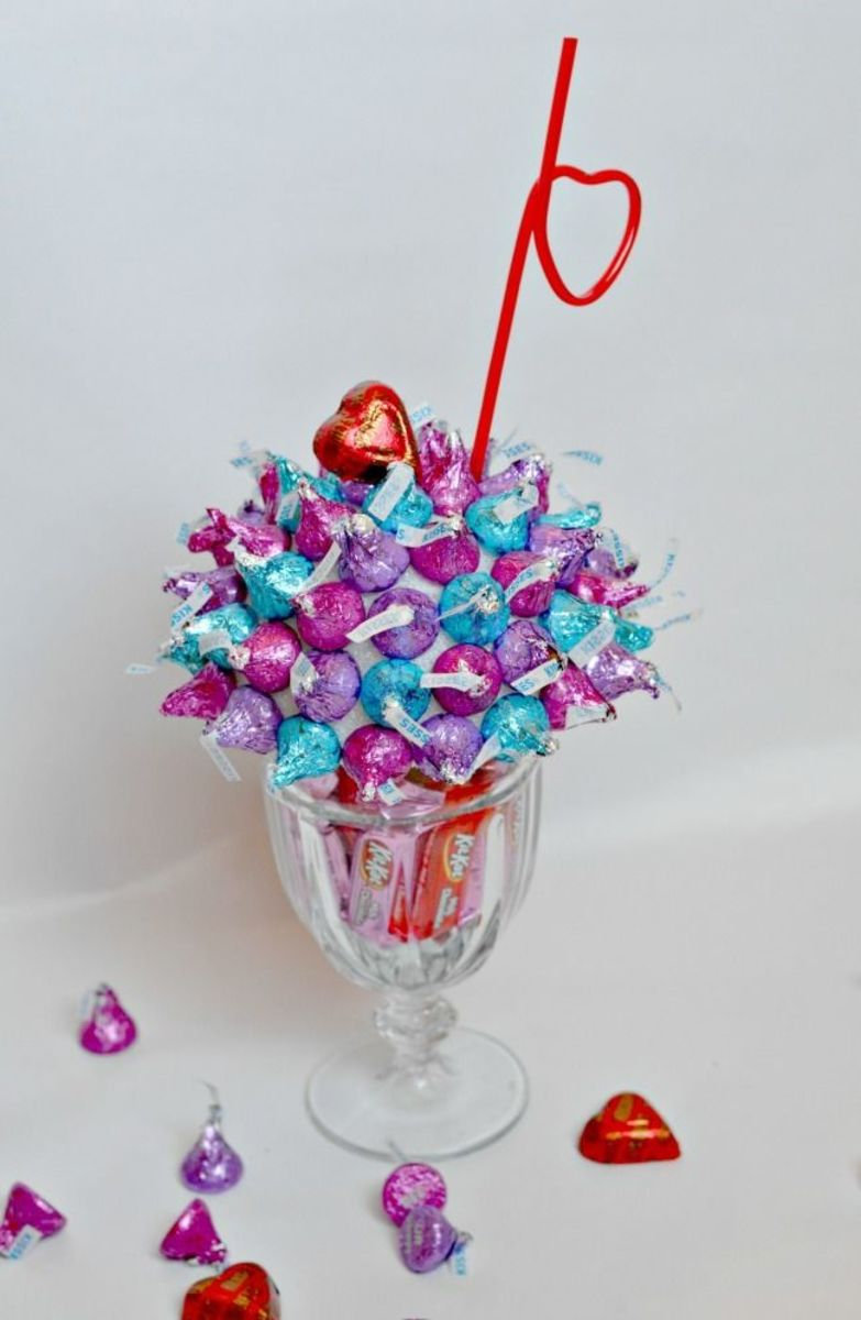 choclate candy sundae Valentine's Day DIY