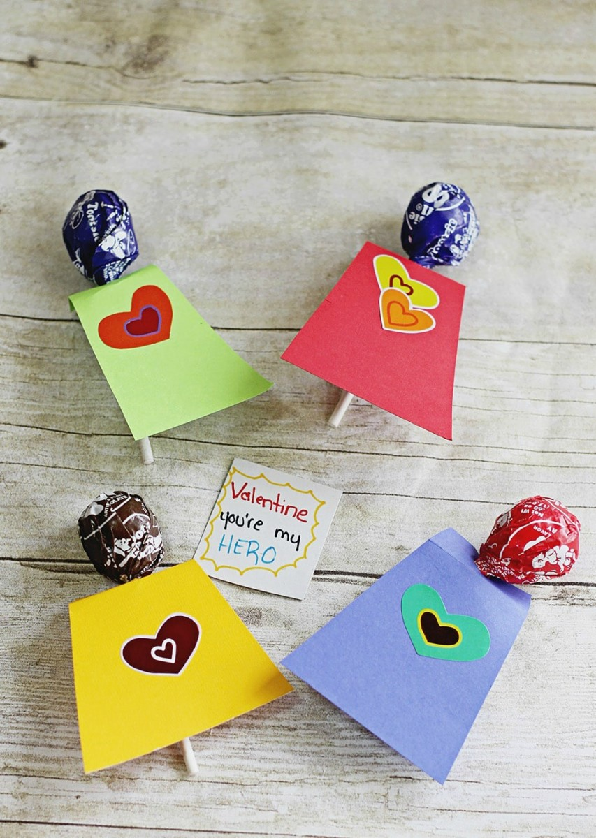 superhero Valentine's Day card crafts