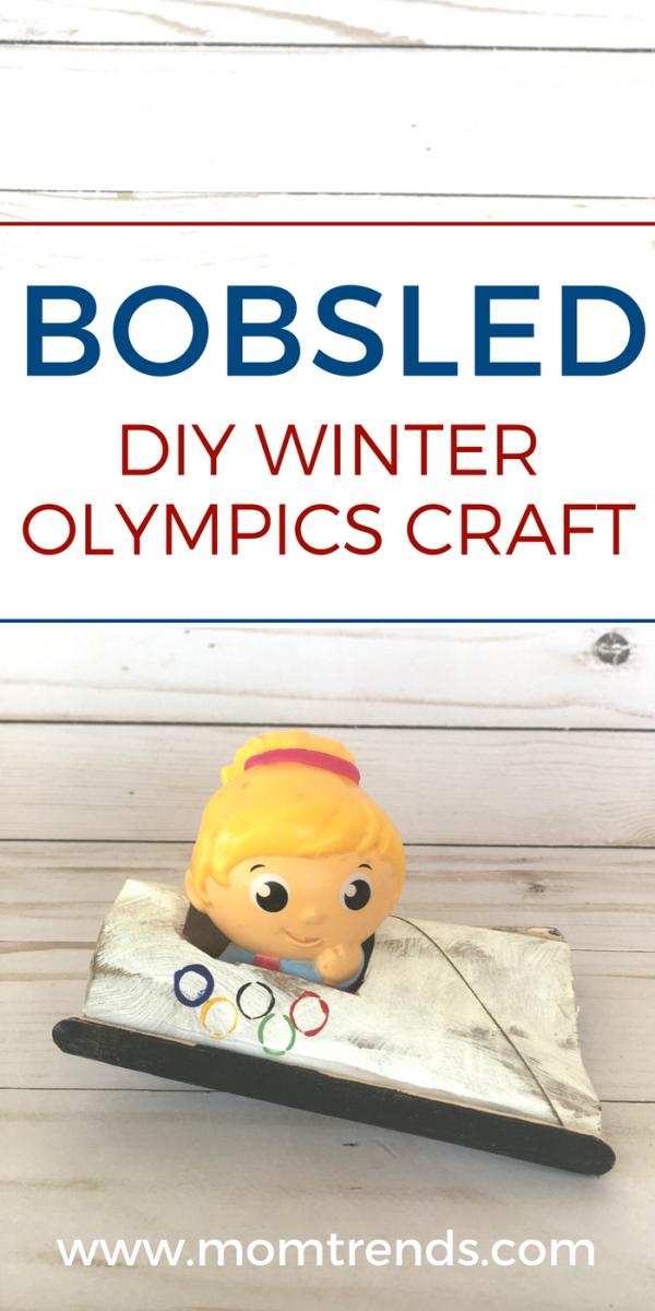 Bobsled DIY Winter Olympics Craft - Pinterest