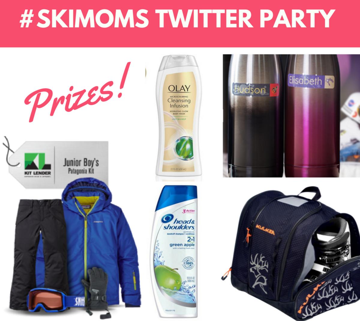 #skimoms twitter party prizing