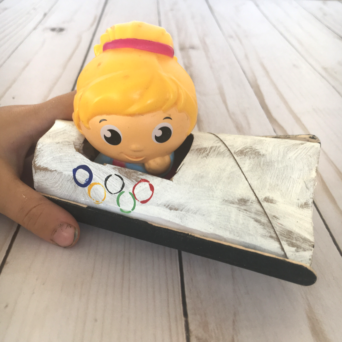 Winter Olympics Craft - Bobsled with Toy
