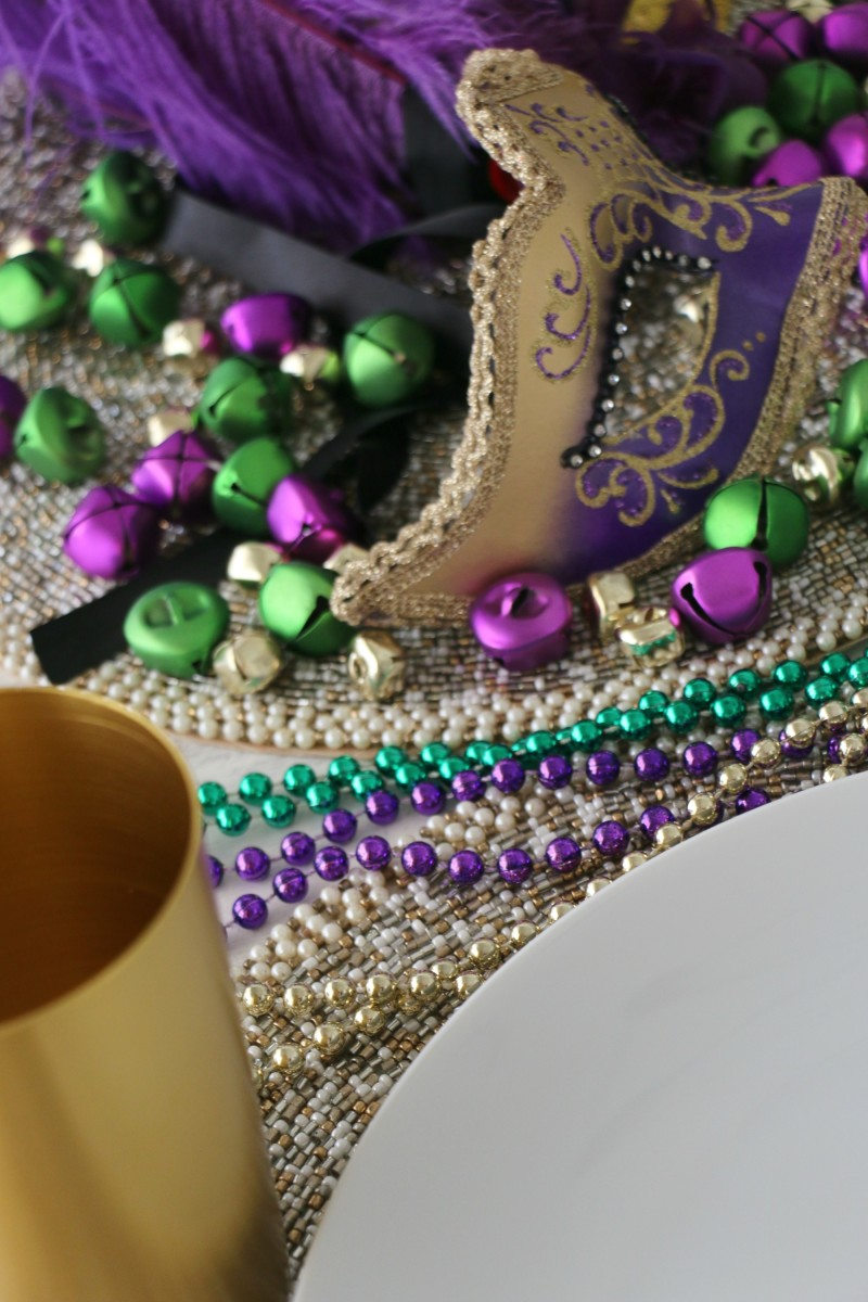 mardis gras table ideas