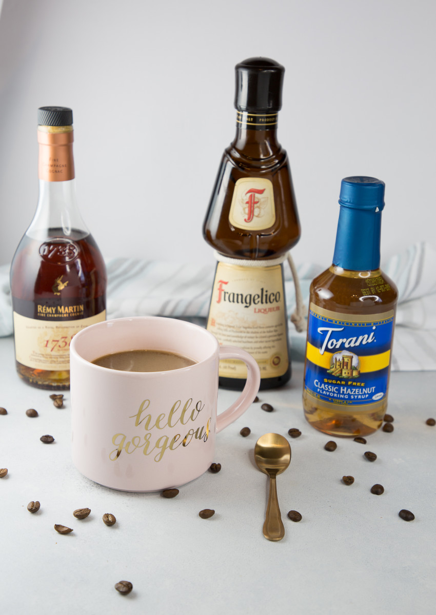 Boozy hazelnut coffee ingredients