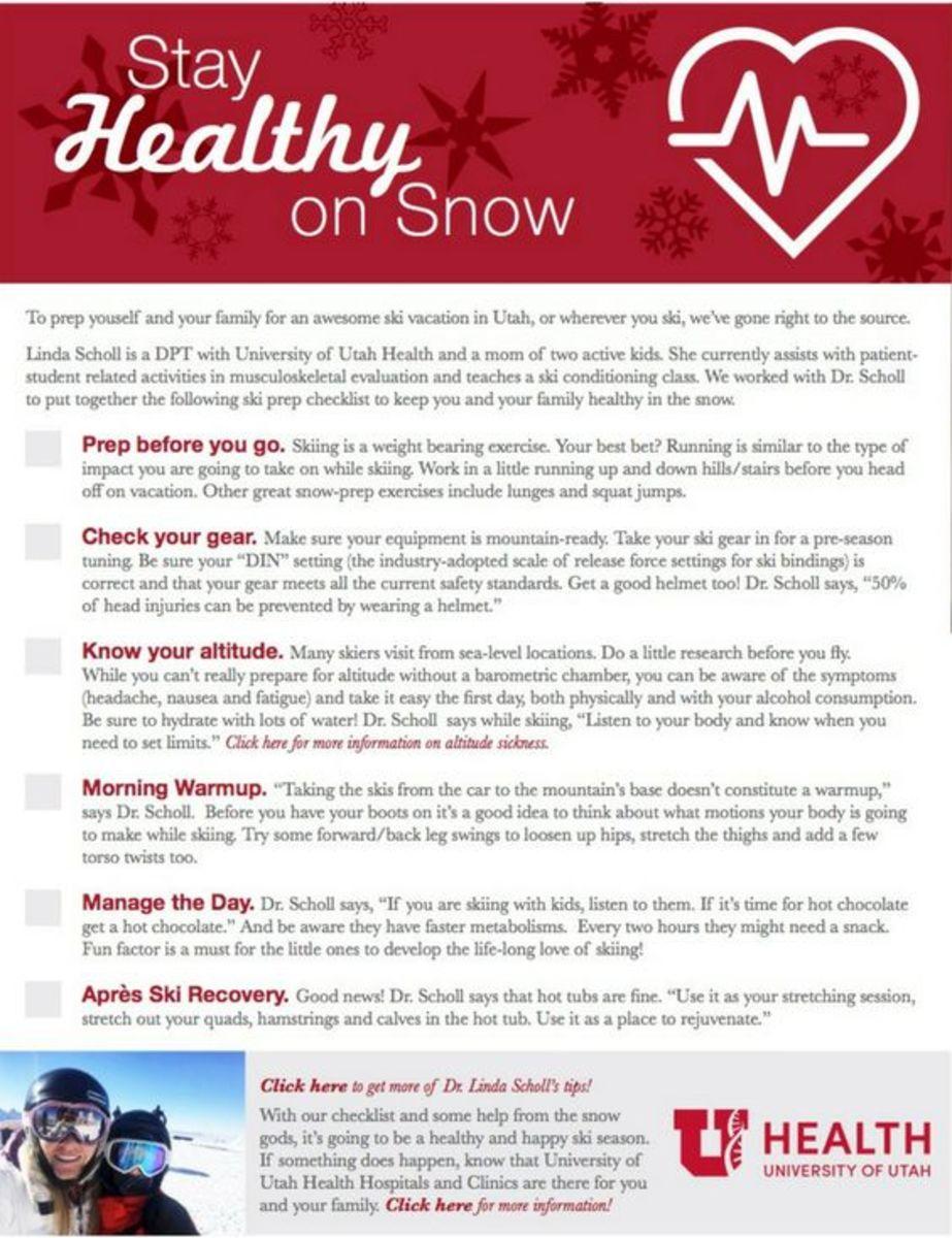 Ski Prep Checklist