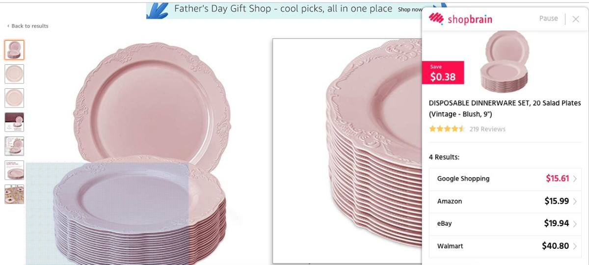paper goods for girl baby shower