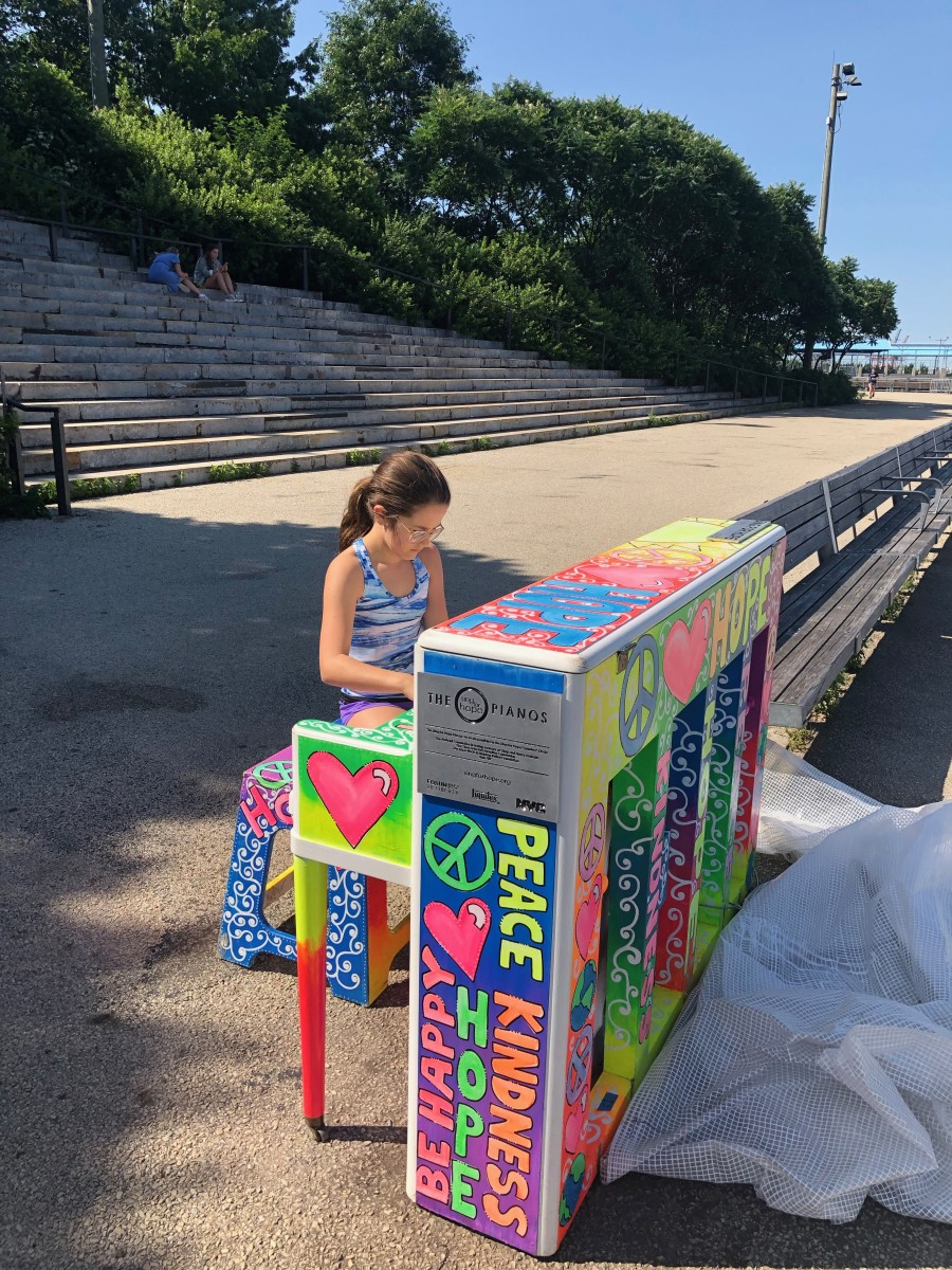 Colorful Outdoor Pianos in NYC
