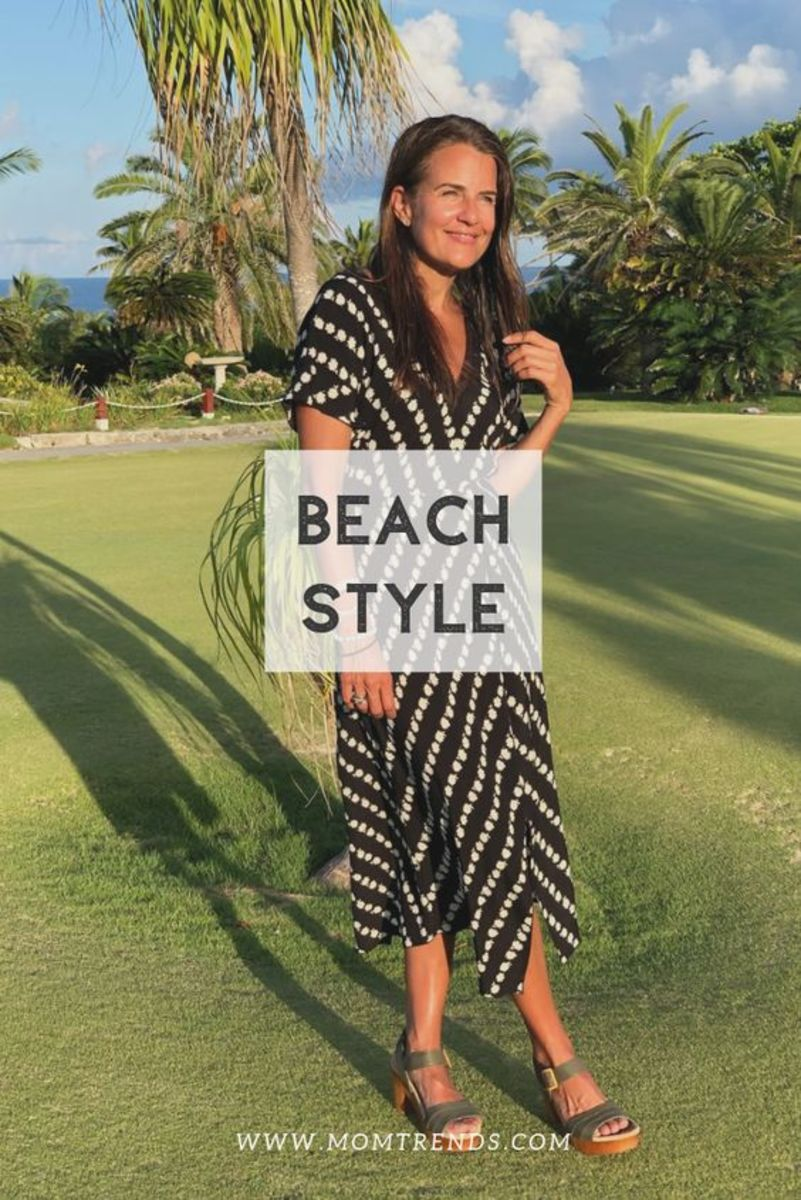 Beach style for moms