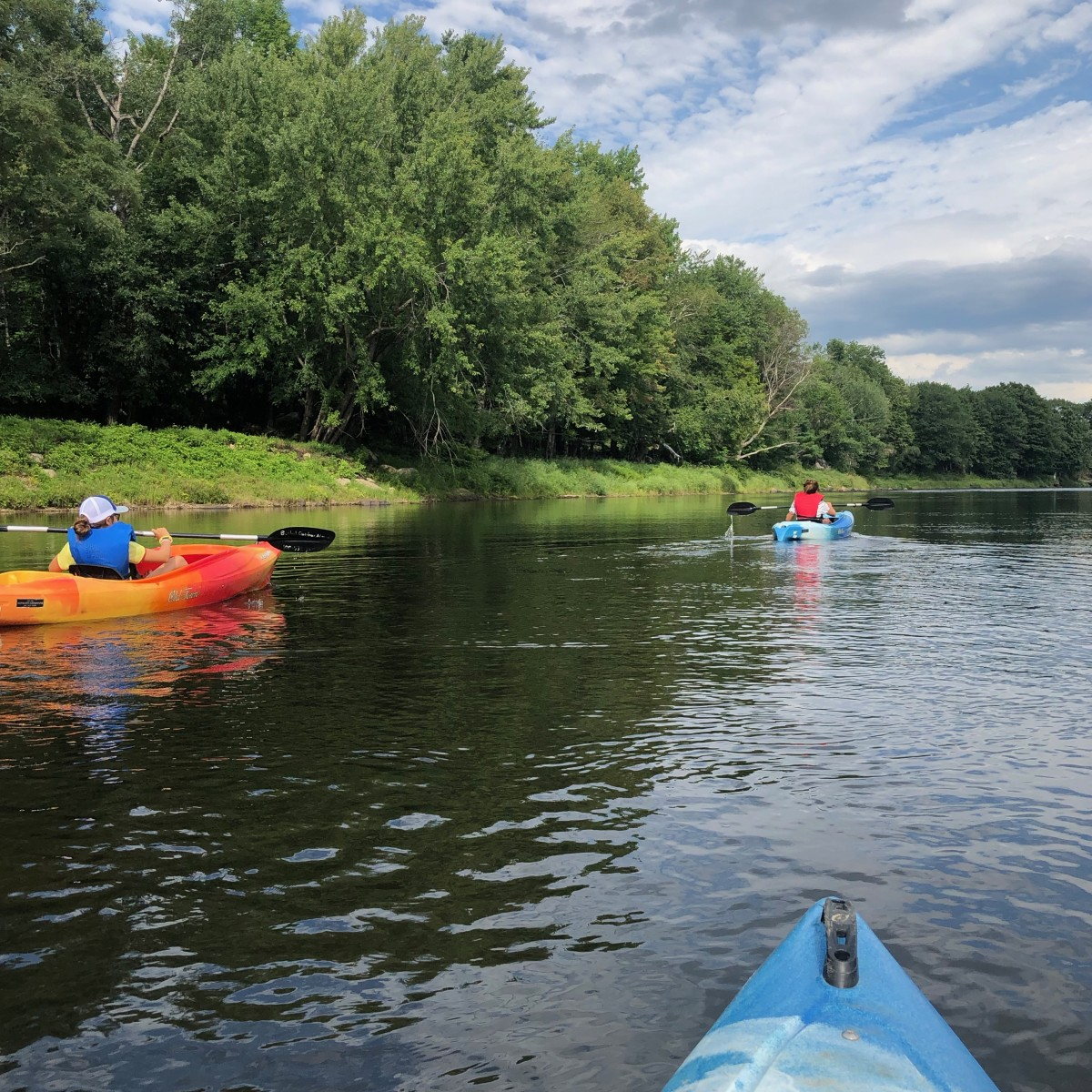 kayaking on the Androscoggin River