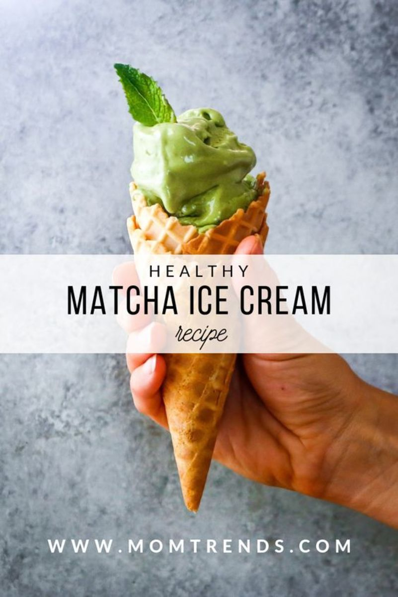 HEALTHY MATCHA ICE CREAM RECIPE