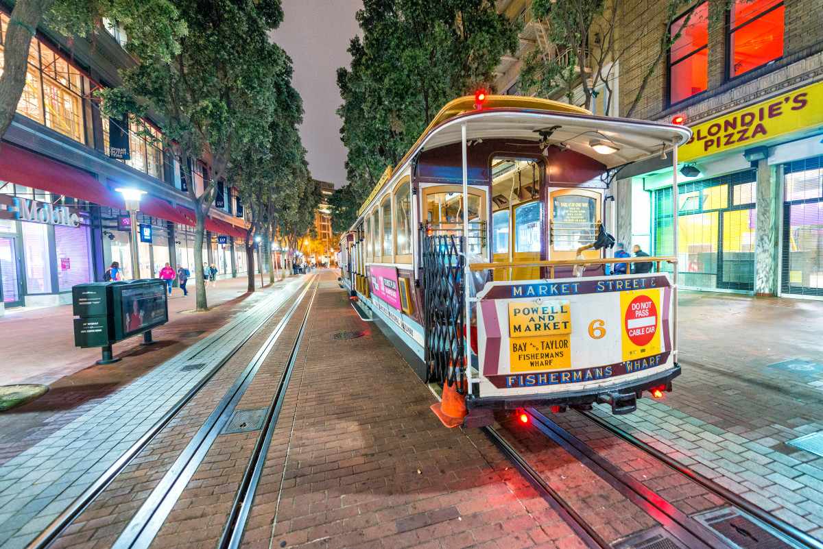 Canva - Cable Car at Night in San Francisco