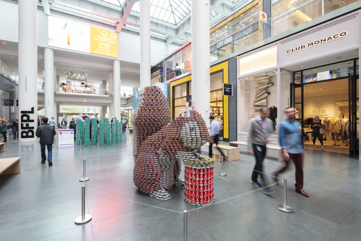 Canstruction Helps City Harvest Collections