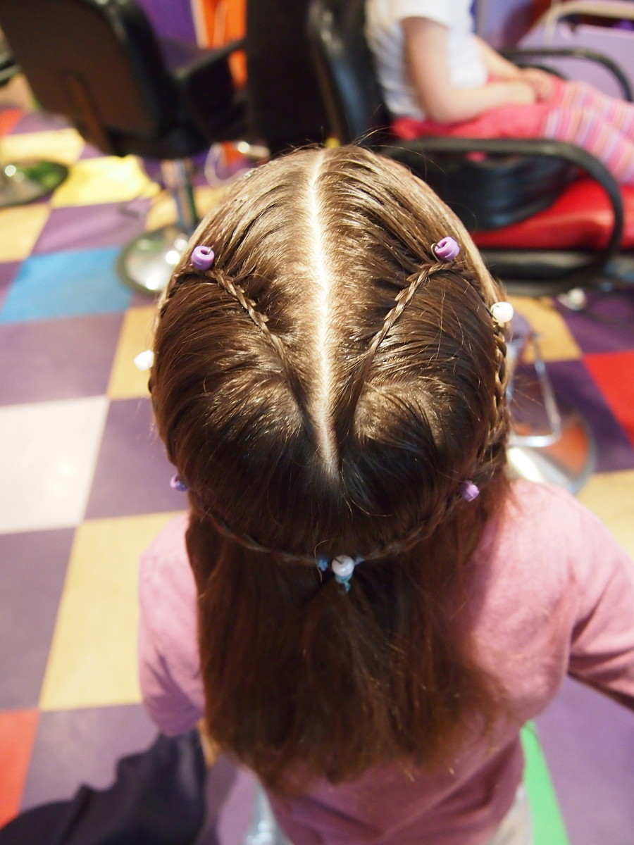 Braids for Kids for Valentine's Day