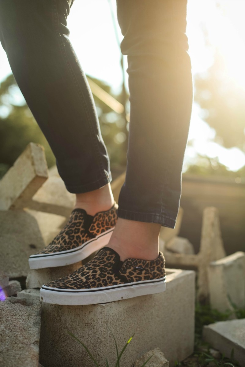 animal prints sneakers